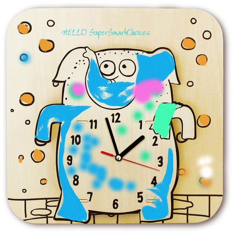 Drawing a cartoon clock  Elephant - SuperSmartChoices - 1