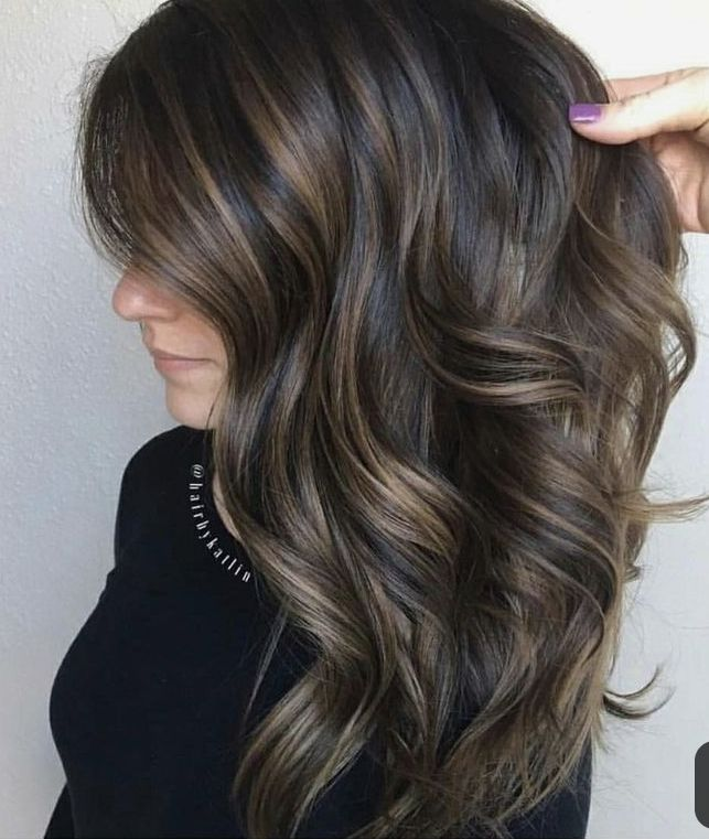 Dark Brunette With Subtle Lowlights Brunette Hair Color