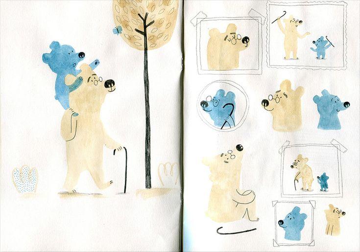 Development work for 'My Grandpa' by Marta Altés