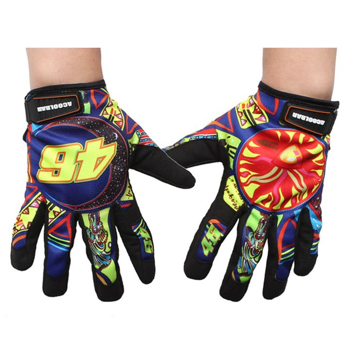 Brand Print Motorcycle Gloves Motocross Racing Gloves Motorbike Outdoor Ride Gloves Luvas Guantes Moto off-road Protective Glove