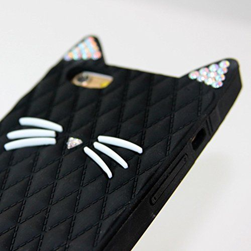 ... Cat Protective Soft Skin Cover Silicone Rubber Cell Phone Case (Bling