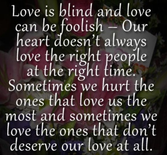 Blind Quotes: Love Blind & Foolish - Quotes
