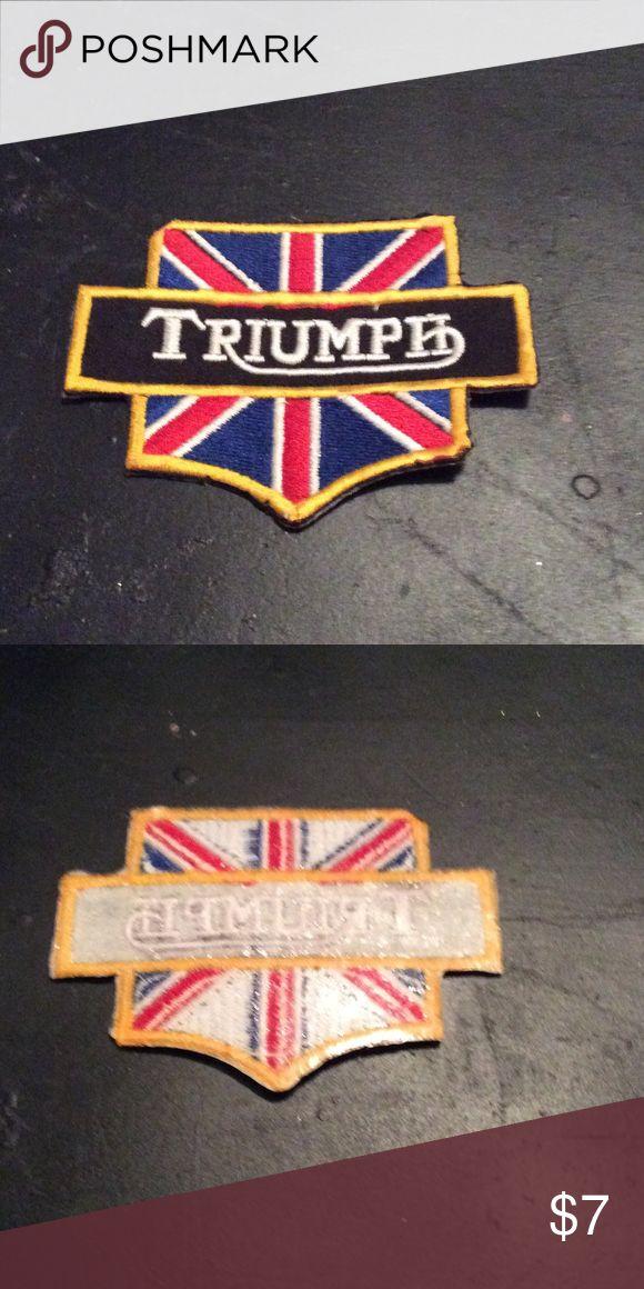 Triumph patch💫 Sew on patch. New. Triumph Accessories