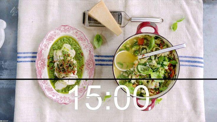 Jamie oliver minestrone soup 15 minute meals - Jamie en 15 minutes ...