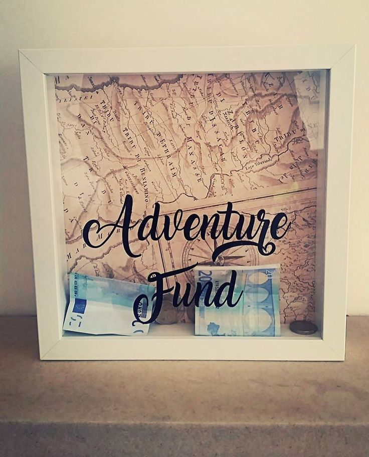Adventure Fund, Adventure Fund Box, Travel Fund, Travel Money Box, Money Box, Savings, Holiday Fund, Personalised, Drop Box, Box Frame, Map by FioreCrafts on Etsy