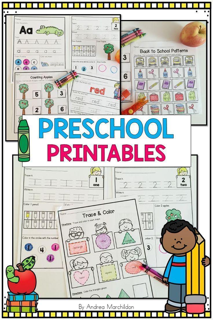 Back to School Preschool Morning Work | Preschool (Pre-K