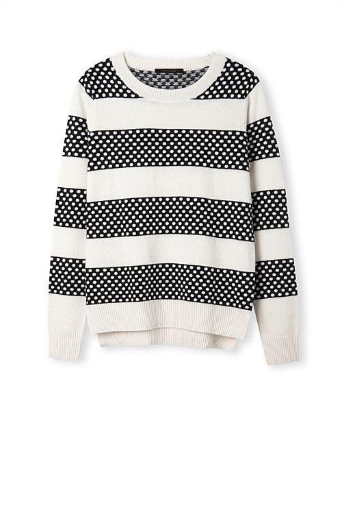 Block Spot Stripe Knit