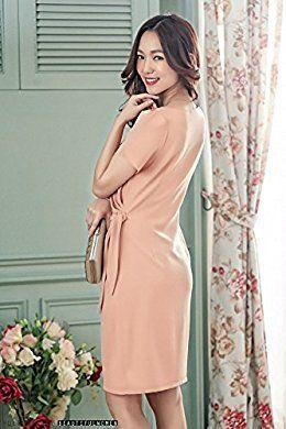 Amazon.co.jp: (レディース &シープ)ladies and sheep 結婚式 ドレス お呼ばれ ストレッチ 膝丈: 服&ファッション小物
