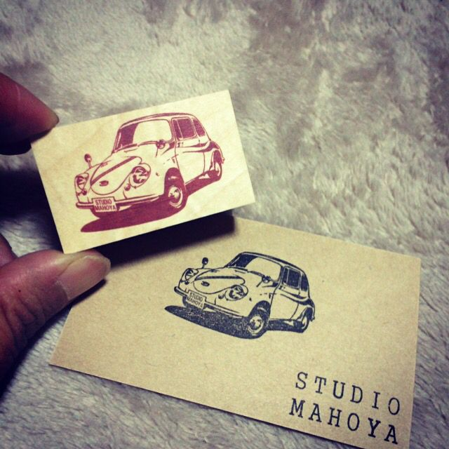 SUBARU 360 Car stamp