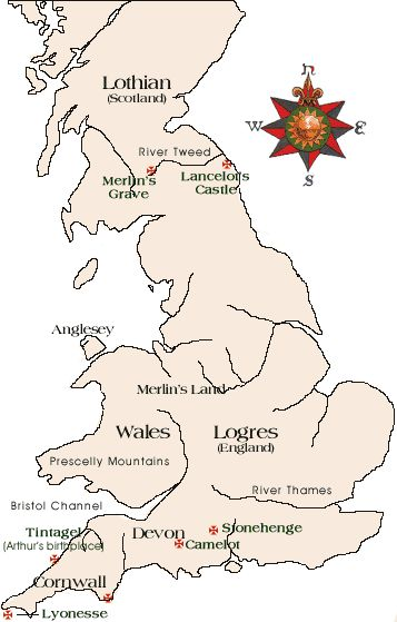 Arthurian Period Map | King Arthur & The Knights of the Round Table