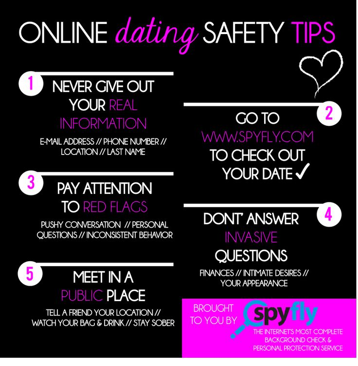 Safety of internet dating
