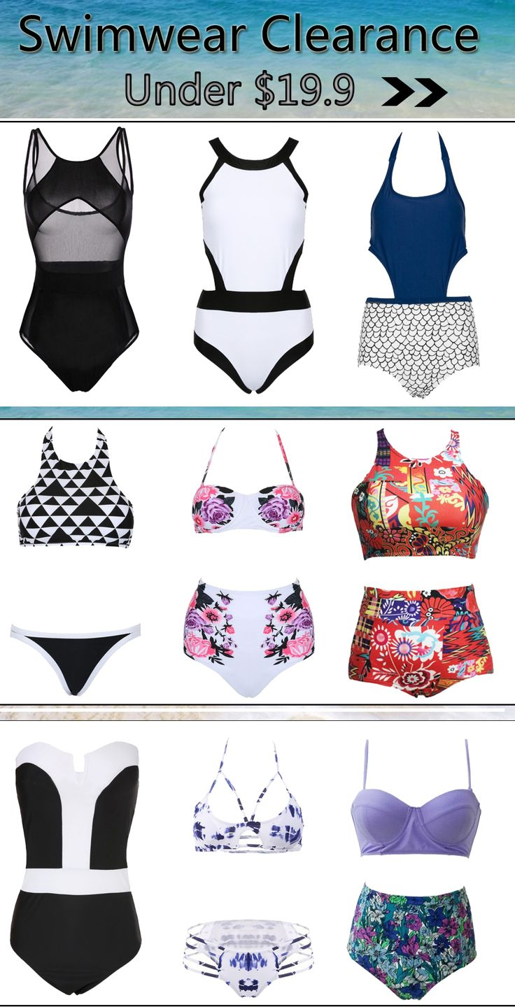 want to buy cheaper swimwear?why don't you come to #Choies swimwear clearance?more choices of swimwear,cheaper choices,all under $19.9,you should never miss it!