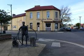 evandale tasmania, famous for the penny farthing bike ride