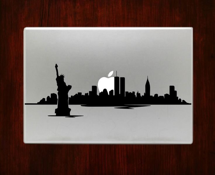 New york skyline skyscraper decal sticker vinyl for macbook pro air 13 inch 15