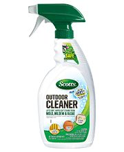 Scotts Outdoor Cleaners Safely Wipe Out Stains Caused By Mold, Mildew U0026  Algae. The Outdoor Cleaner Is Safe To Use Around Plants, Grass, And Fabrics.