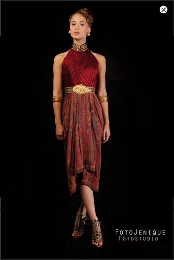 elegant and cool tenun dress