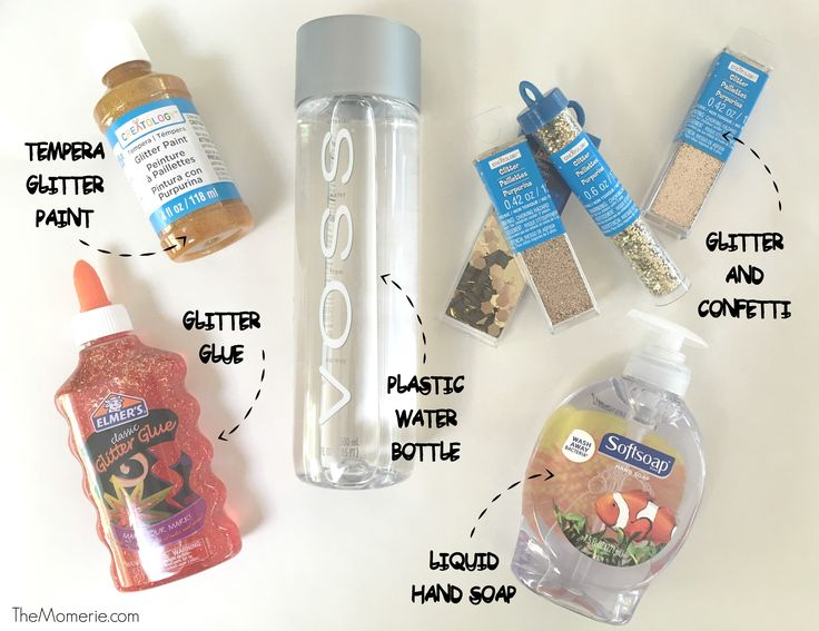 How To Make a Calm Down Sensory Bottle | The Momerie