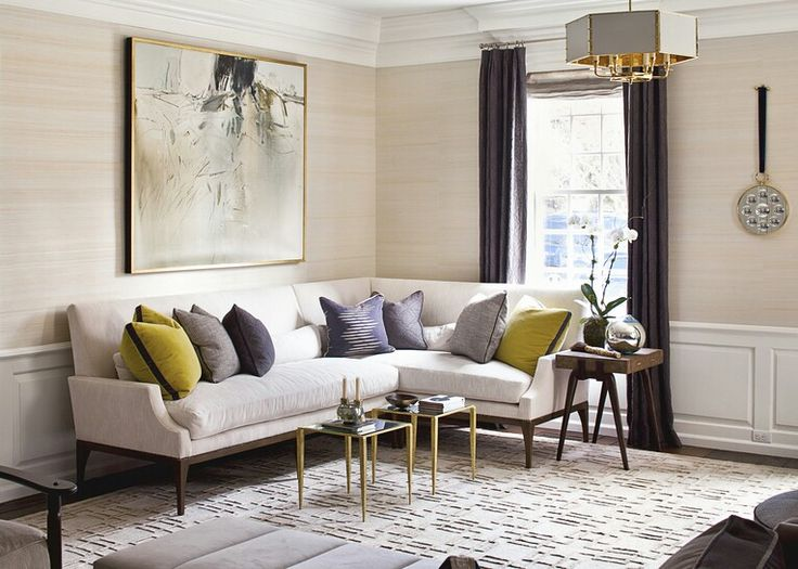 Neutral With Pop Of Mustard Yellow And Violet Grey
