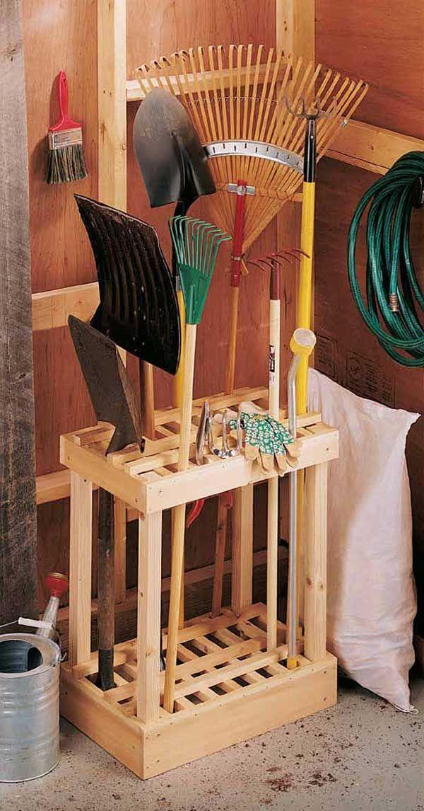 Build a garden tool holder   Reader's Digest Australia