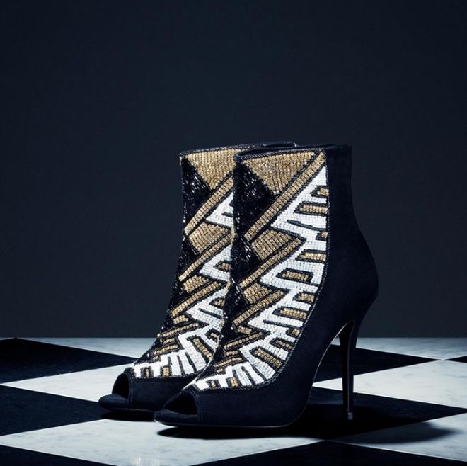 Want these beaded heels now from Balmain x H&M!