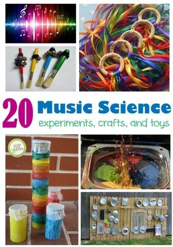 Music Science Activities for kids!    ♫ CLICK to read more or RE-PIN for later!   ♫
