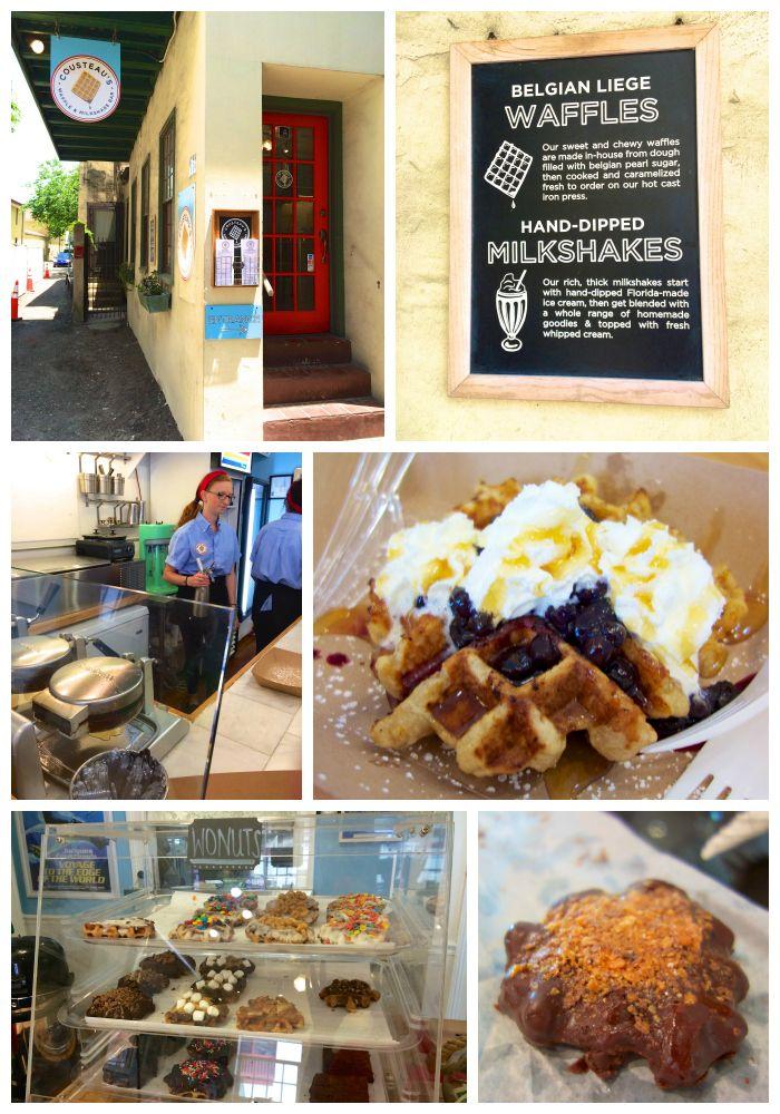Cousteau's Waffle & Milkshake Bar - great Belgium Liege Waffles - St. Augustine, FL
