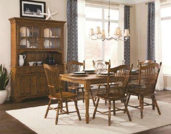 Laminate Top Oak Leg Table Sheaf Post Chair Buffet Hutch