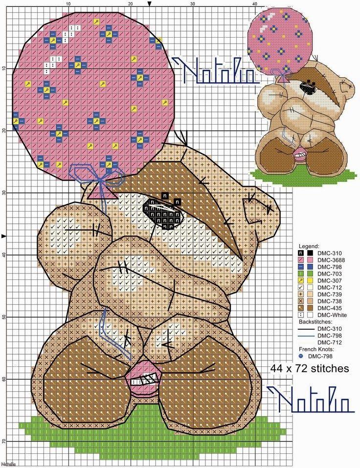 Lindos ursinhos para enxoval do bebê: