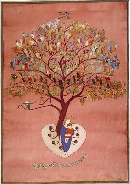 http://www.jhm.nl/collection/specials/charlotte-salomon/other-work  Charlotte Salomon   New Year card, tree with orchestra (gouache on cardboard, 34 x 24 cm), 1940 Private collection - Jewish Historical Museum