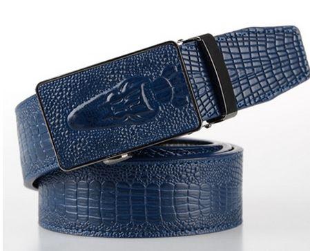 Men's Crocodile Automatic Locking Belt
