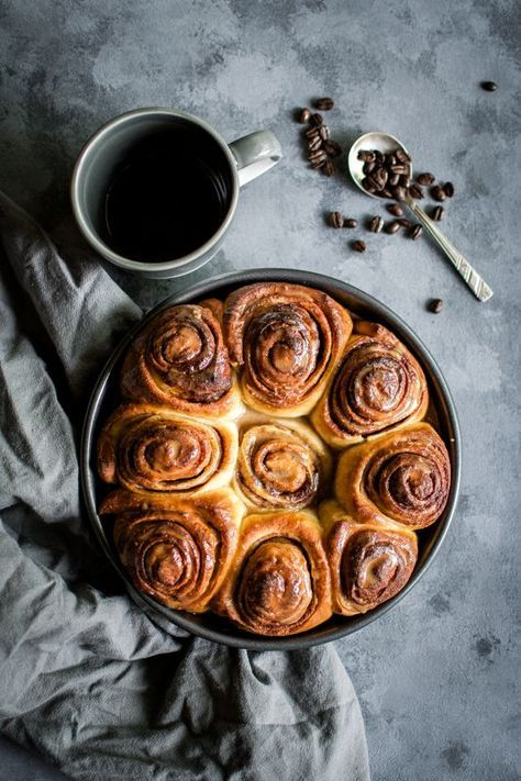 Cinnamon rolls with coffee glaze