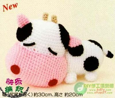 FREE Amigurumi Cow Crochet Pattern and Tutorial (chart diagram)O ༺✿Teresa Restegui http://www.pinterest.com/teretegui/✿༻