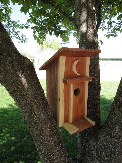 Birdhouse Handcrafted Small Outhouse by RusticCreekWoodProd, $24.95