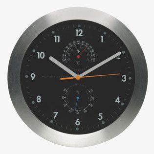 #Habitat - Silver - Weather Clock £30.00 -- http://www.thealternativehighstreet.co.uk/clocks/4589598044