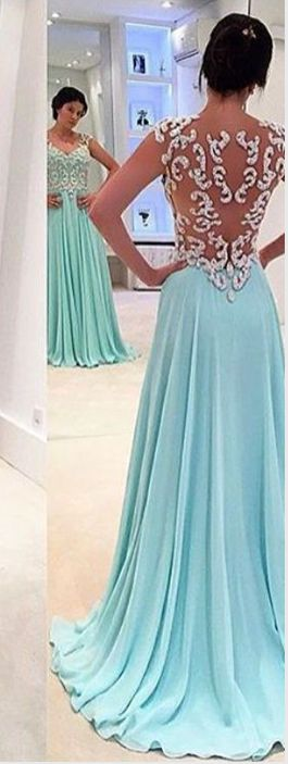 New design white lace sky blue prom dresses,long prom dresses,a line princess cheap prom dress uk,see through back evening gowns,women dresses,custom made evening dresses