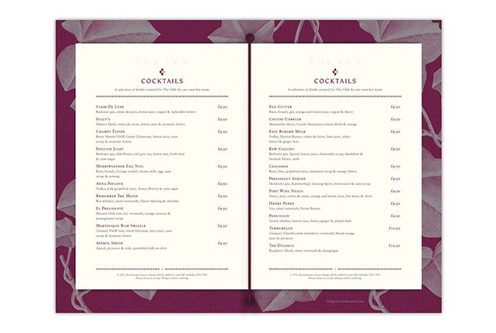 The Ivy menu by United Creatives 04
