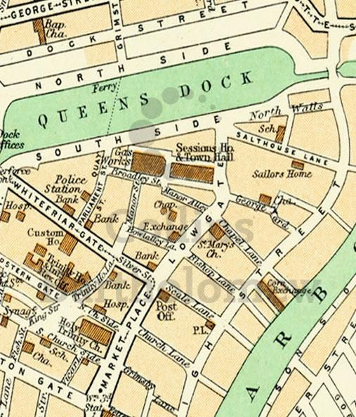 I think this means Queens Gardens used to be a Dock!
