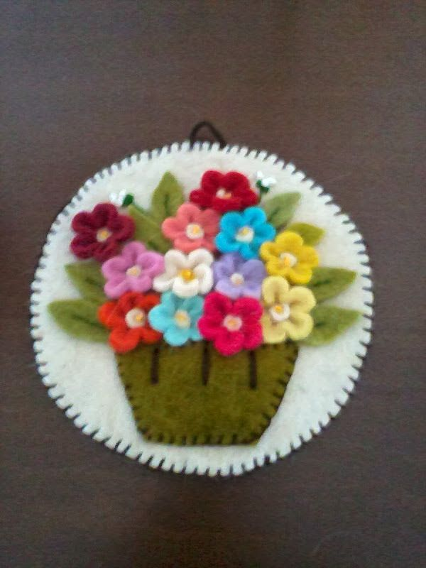 Felt pot and flower