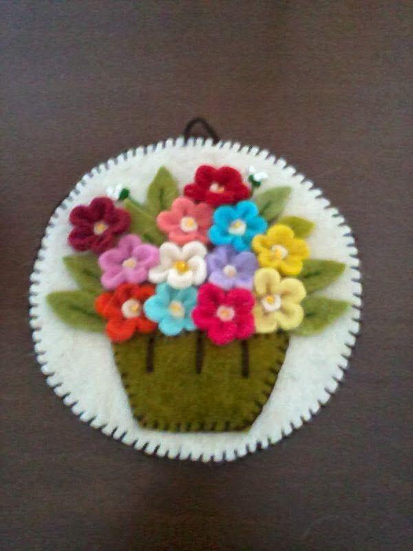 Felt pot and flower
