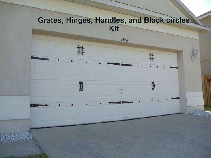 magnetic garage door decorative hardware kit hinges black circles carriage house