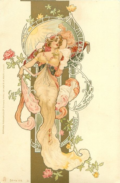 Prime example of Mucha's ability to create sensual movement, and a rare glimpse…