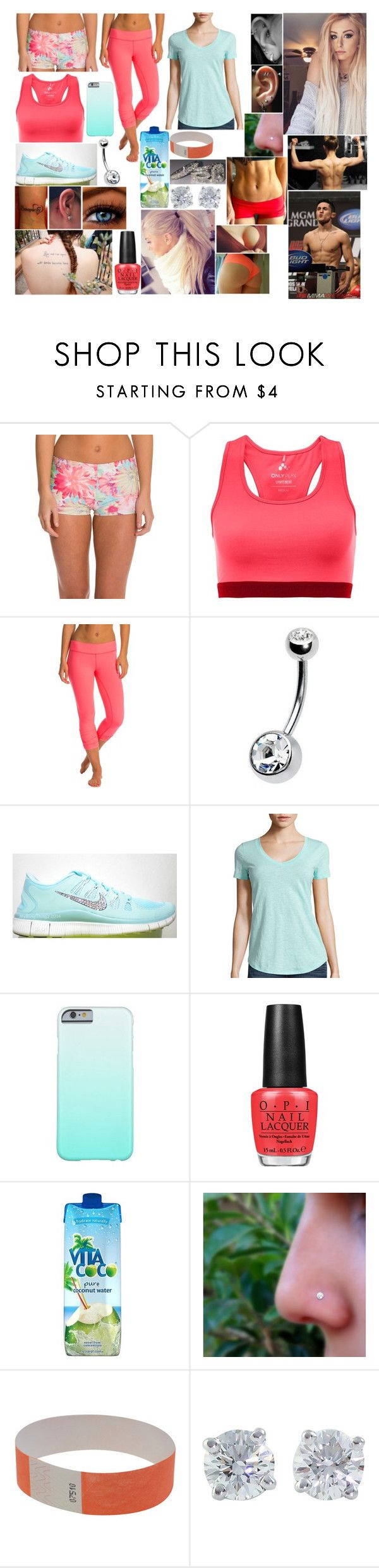 """""""UFC 186 weigh in"""" by queennikkiufc ❤ liked on Polyvore featuring Jala Clothing, Beyond Yoga, OPI, Vita Coco and Tiffany & Co."""