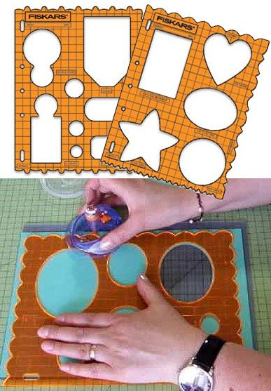 Fiskars Shape template / 1pc Use this template for guiding in tracing or cutting. The Clear template makes alignment and cropping easy and precise.
