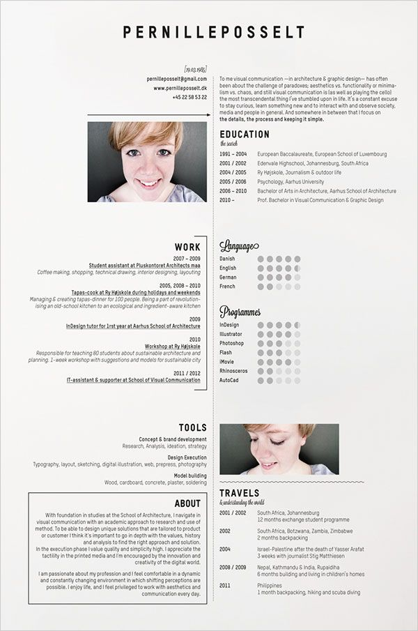17 best clean resumes images on pinterest | resume layout, resume ... - Examples Of Simple Resumes