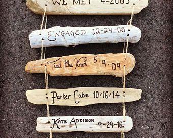 Arbre généalogique signe - Calendrier Dates personnalisé cadeau pour papa, maman, père, mère, mari, cadeau anniversaire femme, personnalisé, cadeau bois de récupération