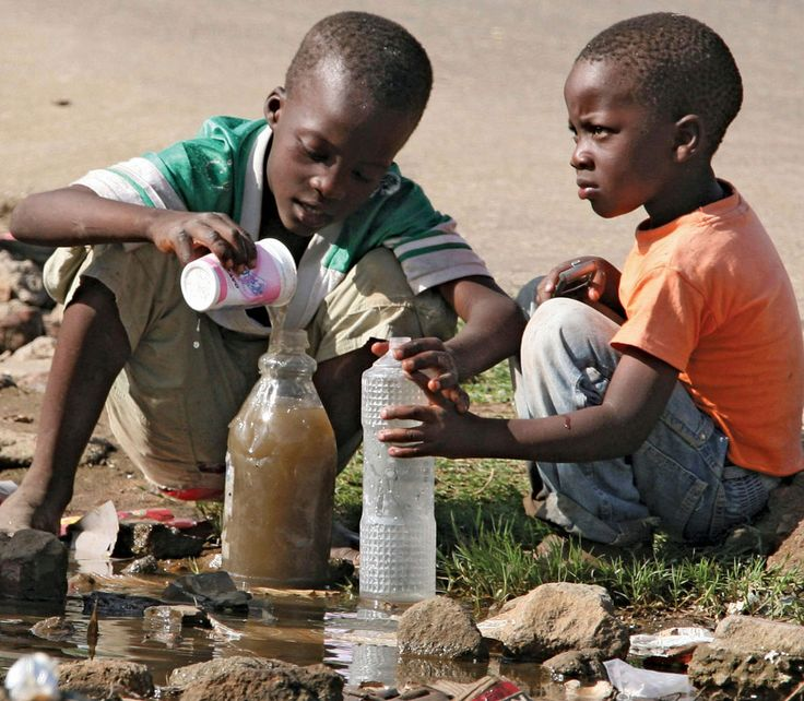 Africans Drinking Dirty Water | African children playing ...