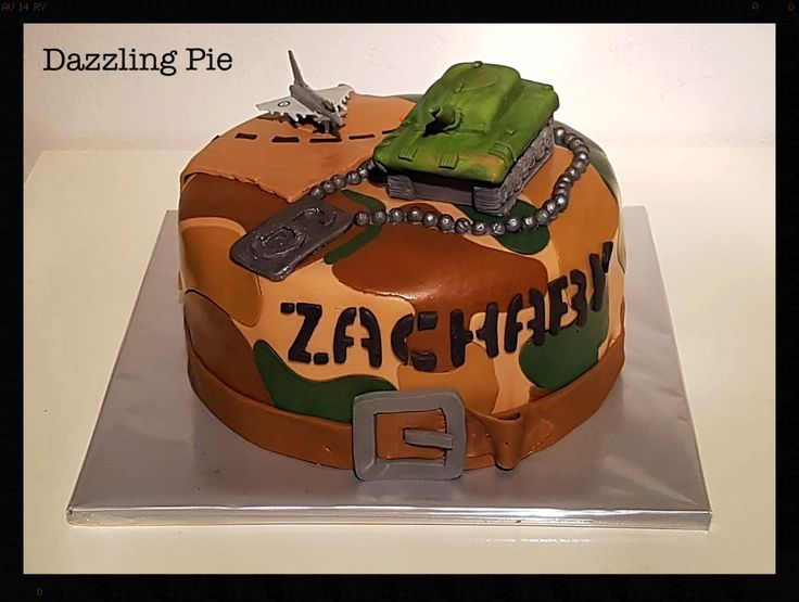 Leger taart / army cake made by Dazzling Pie