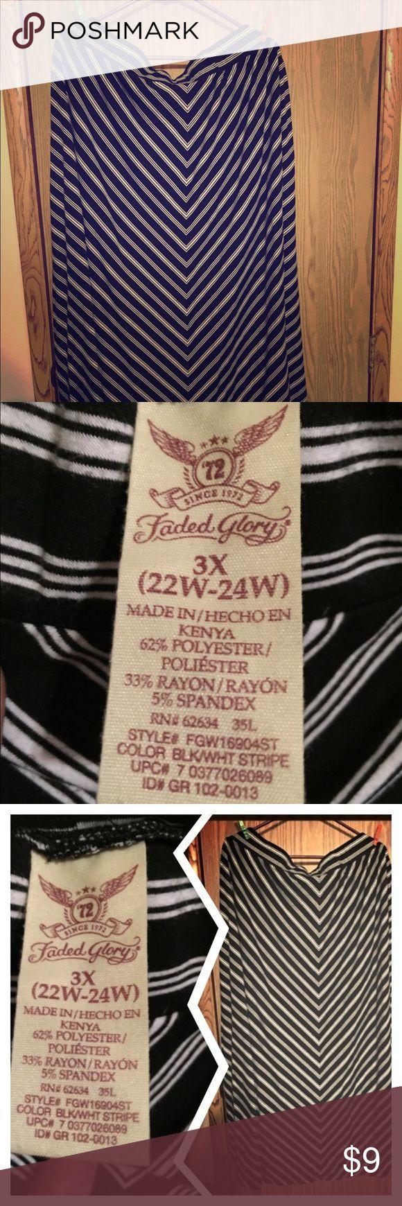 Striped Long Skirt 3x Ladies Striped Long Skirt 3x Faded Glory Skirts Maxi
