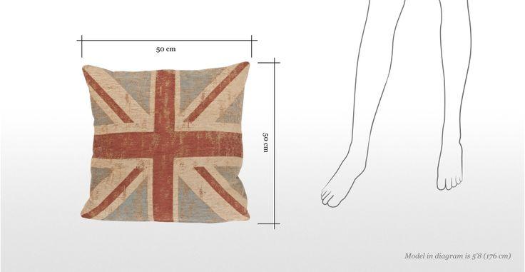 Cuscino 50 x 50 cm Jack, bandiera inglese | made.com
