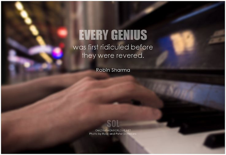 Every genius was first ridiculed before they were revered. - Robin Sharma #believe #quotes #inspirational #inspirationalquote #inspirationalwords #picturequote #picture
